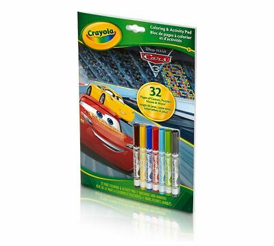 Crayola Coloring Activity Pad with Markers - Cars 3 Fun Play Draw Art Crafts NEW