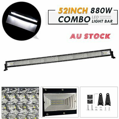 52inch CREE LED Light Bar Spot Flood Combo Beam Work Driving 4WD Offroad SUV 52""