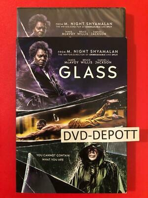 Glass DVD & Slipcover 2019 {{AUTHENTIC DVD READ LISTING}} New FAST Free Shipping
