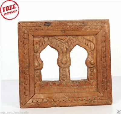 1850'S Indian Antique Hand Carved Old Wooden Wall Hanging Frame / Temple - 9798