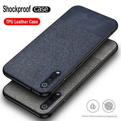 For Xiaomi Mi CC9 CC9e 9 SE Slim Fabric Hybrid Soft TPU Leather Case Matte Cover