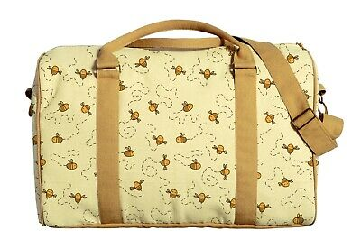 Canvas Duffle Luggage Travel Bag Printed Lovely Flying Bees Pattern WAS_42