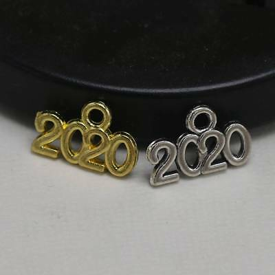 20x Charm 2019 2020 Year Number Tibetan Silver Color Pendants DIY Craft Jewelry