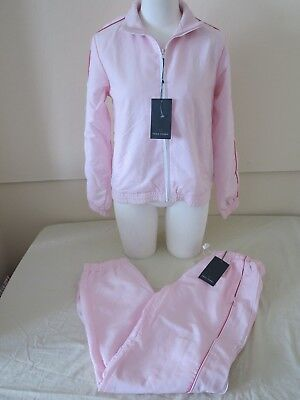 Fred Perry Womens Full Tracksuit Baby Pink Sportswear Xl New