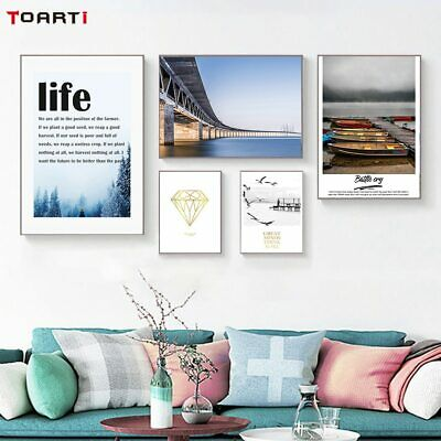 Nordic Landscape Print And Poster Life Motivational Quote Canvas Painting