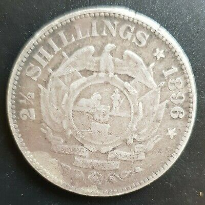 1896 South Africa - (Trench Art) 2 1/2 Shilling -(Kruger with Hat & Pipe) Read..