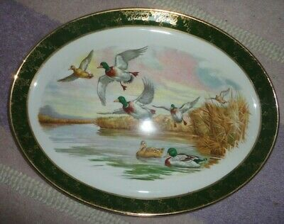 Weatherby Hanley oval Ducks plate good condition