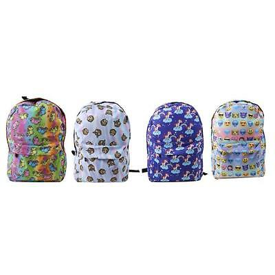 Unicorn Printing Multi Color Rainbow Girl Backpack School Bag Travel Rucksack LA