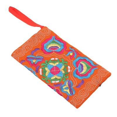 Ethnic Boho Embroidered Coin Purse Bag Wallet Phone Pouch Clutch Handbag LA