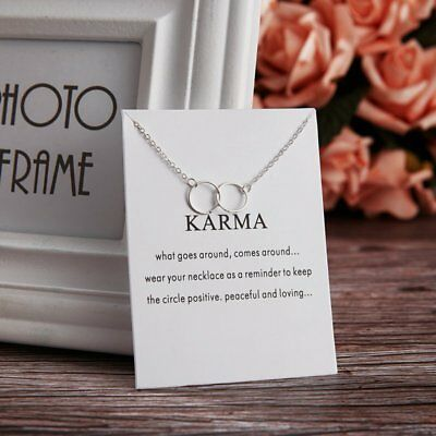Fashion Charms Circle Silver Pendant Chain Choker Necklace Womens Jewellery New