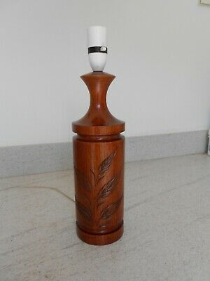 Vintage Retro Danish Teak Table Lamp Base Mid Century G-Plan era