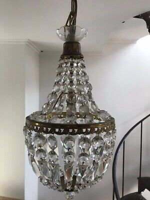 """Pair of Vintage """"French Basket"""" Chandeliers - $400 - Pick up Bayside Melbourne"""