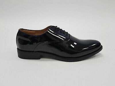Mens Lace Up Smart Patent Dress Wedding Party Shoes Black New Sample Pair