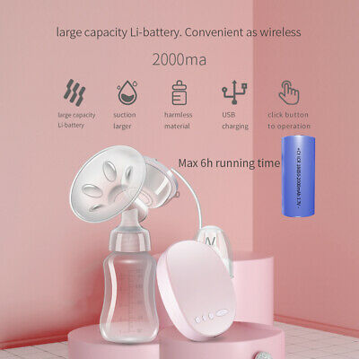 Electric Breast Pump Sucking Baby Infant Breast Milk Feeding Bottle Rechargeable