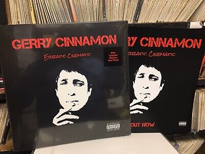 GERRY CINNAMON - ERRATIC CINEMATIC - RED VINYL LP (2019) Ltd Edition Red Vinyl
