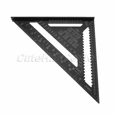 """Speed Square Protractor Ruler 12""""Aluminum Alloy Triangle Protractor Measure Tool"""