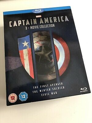 Marvel Captain America 3 Movie Collection Blu-ray Box Set