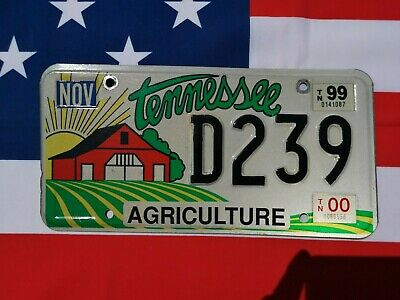 Plaque d'immatriculation Tennessee D239 US USA license plate