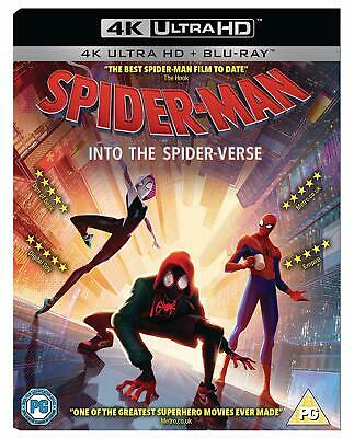 Spider-Man Into The Spider-Verse - 4K Ultra Hd Blu Ray + Blu Ray New Sealed