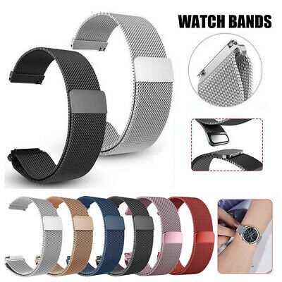 For Samsung Galaxy Watch 42mm 46mm Milanese Loop Strap Magnetic Metal Watch Band