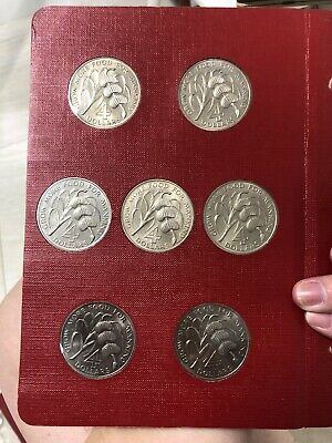 1970 7pc fao 4 dollars banana coin set