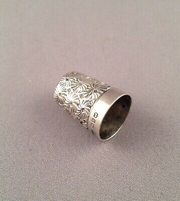 Victorian 1899 Sterling Silver Thimble By McL & Co