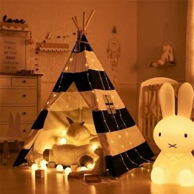 UK Kid Teepee Tent Kids Canvas Home Pretend Play Outdoor Camping Xmas Gifts