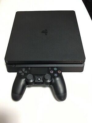 Sony Playstation 4 PS4 Slim 1TB Console CUH-2215B Jet Black Excellent