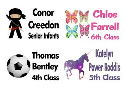 21 x Personalised School Book Stickers - ANY IMAGE OR TEXT OPTION