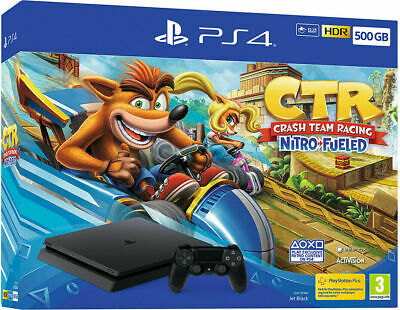 Sony Console Ps4 500 Gb Chassis F Black + Dualshock V2 + Crash Team Racing Promo