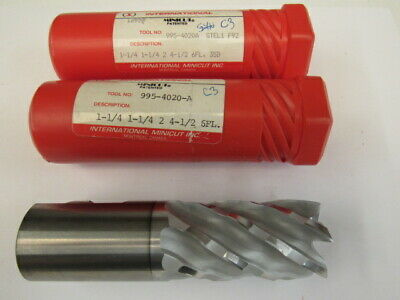 "Lot Of 2 -  New 1-1/4 - Six Flute Coated Minicut - Hs End Mill - 2"" Loc"