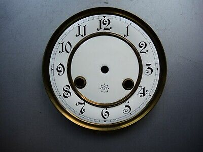 Antique German wall clock JUNGHANS two part Porcelain DIAL Mount Gustav Becker c
