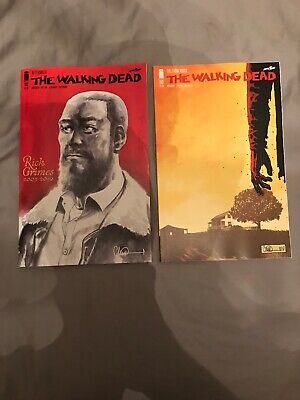THE WALKING DEAD 193 1st PRINT THE FARMHOUSE & 192 Rick Grimes Commemorative