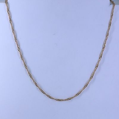 2mm High quality Unisex Real 18K Rose Gold Filled Thin  Necklace Chain 18 inches