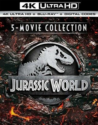 Jurassic World 5 Movie Collection (4K Ultra HD)(UHD)(DTS:X)(Pre-order / Sep 10)