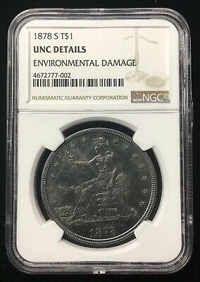 1878-S Trade Dollar - Ngc Unc Details