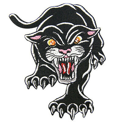 Embroidered Patches Iron Sew On transfers Badges appliques carnivorous panther
