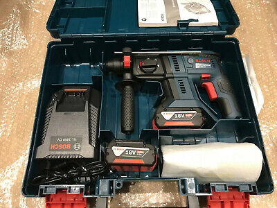 BOSCH GBH 18 V-20 SDS plus 3 function hammer drill inc 2 x 4.0Ah Batts Box
