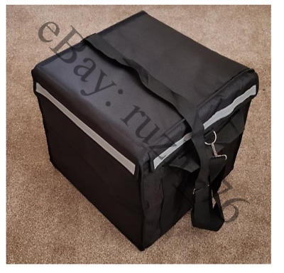 45L black delivery bag with smart heat pad for food delivery