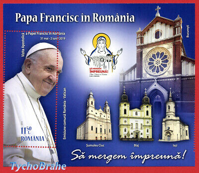 Misperforated Journey Pope Francis Romania Mnh 2019 Vatican Papei Francisc Error