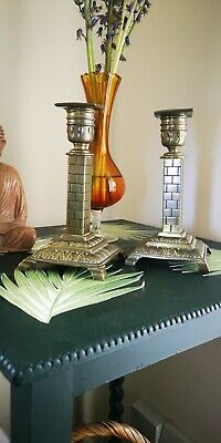 Antique pair of  Candlesticks, Brass William Tonk And Son