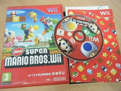 New Super Mario Bros Wii.nintendo Wii Game Complete With Manual