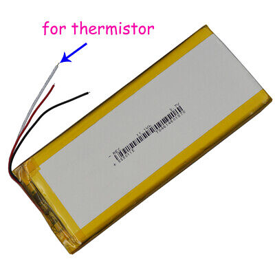 3.7V 3000mAh Polymer Li battery Lipo 3 wire thermistor 5550115 For pad tablet PC