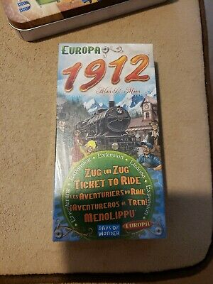 Ticket To Ride Board Game Europe 1912 Expansion