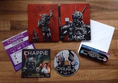 Chappie - Hmv Exclusive Limited Bluray Steelbook - Ultra Rare Inc J Card/Sleeve