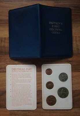 Britain's First Decimal Coins - Collectors Coin Set - Decimal Day - 1971