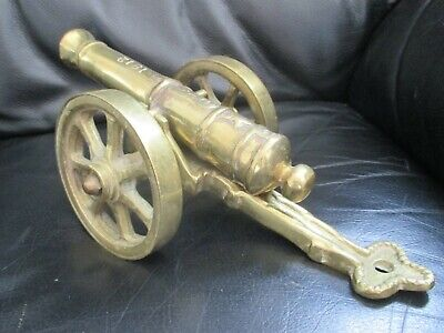Vintage Large/Very Heavy Solid Brass 1812 Cannon