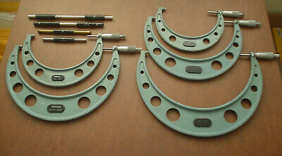 "Set of 5 Mitutoyo Micrometer (5""-6"", 6""-7"", 8""-9"", 9""-10"", 10""-11"") w/Standards"