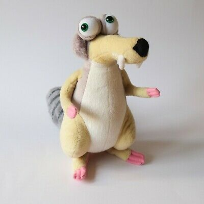 """Large SCRAT ICE AGE 3 4 5 Soft Toy Plush Squirrel Dawn of Dinosaurs Sid 10"""""""