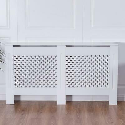 Radiator Cover White Painted  Mdf Wood Grill Covers Solid Shelf Large Home